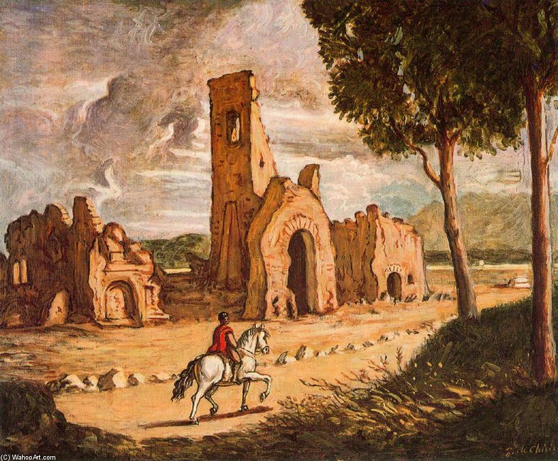 Via Appia by Giorgio De Chirico (1888-1978, Greece) | Famous Paintings Reproductions | WahooArt.com