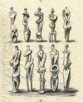 Henry Moore - Ideas for Metal Standing Figures