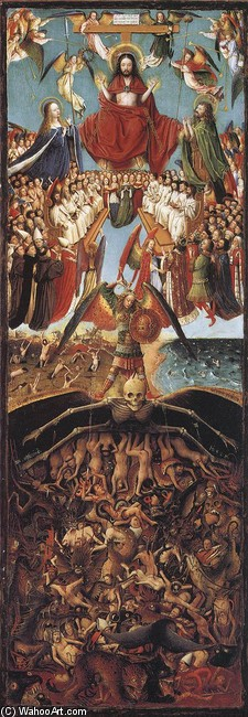 'Last Judgment', Oil by Jan Van Eyck (1395-1441, Netherlands)
