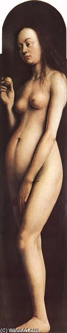 'The Ghent Altarpiece. Eve', Oil by Jan Van Eyck (1395-1441, Netherlands)