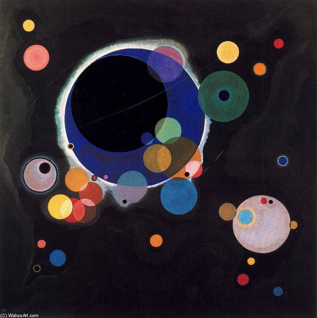 'Circles', Oil by Kandinsky (1866-1944, Russia)