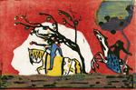 Kandinsky - Two riders in red