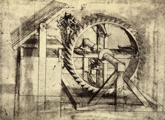 'Crossbow Machine', Ink by Leonardo Da Vinci (1452-1519, Italy)