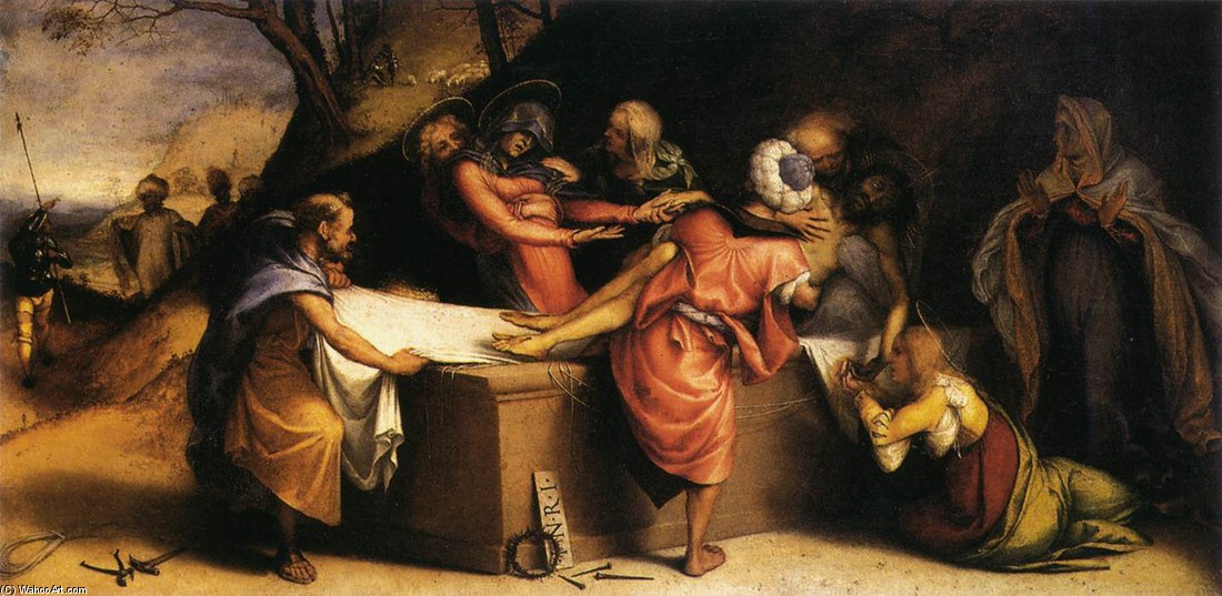 Deposition 1 by Lorenzo Lotto (1480-1557, Italy) | Painting Copy | WahooArt.com