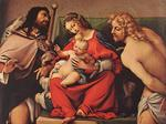 Lorenzo Lotto - Madonna with the Child and Sts Rock and Sebastian