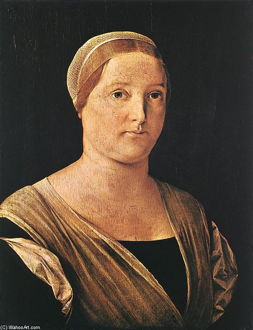 Portrait of a Woman by Lorenzo Lotto (1480-1557, Italy) | Oil Painting | WahooArt.com