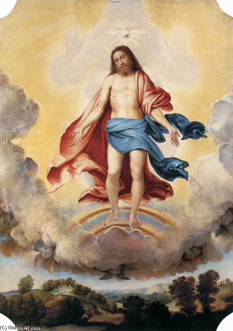 The Trinity by Lorenzo Lotto (1480-1557, Italy) | Famous Paintings Reproductions | WahooArt.com