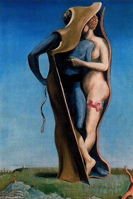 'Vive l'amour (Le Pays Charmant)', Oil by Max Ernst (1891-1976, Germany)