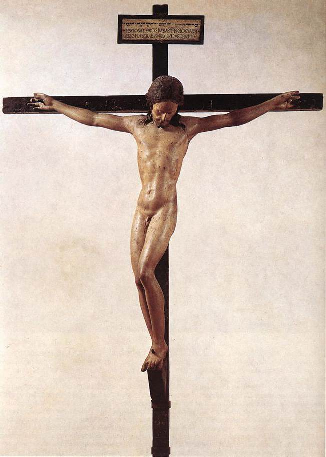 'Crucifix', Oil by Michelangelo Buonarroti (1475-1564, Italy)