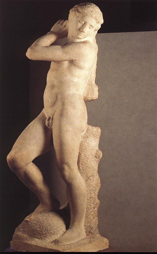 'David-Apollo', Sculpture by Michelangelo Buonarroti (1475-1564, Italy)