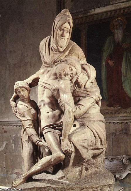 'Pieta 1', Sculpture by Michelangelo Buonarroti (1475-1564, Italy)