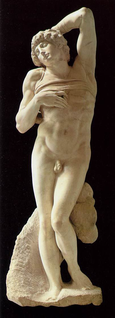 'Slave (dying)', Sculpture by Michelangelo Buonarroti (1475-1564, Italy)