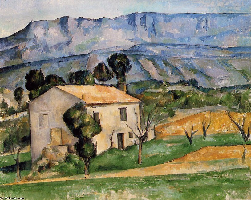 'Houses in Provence, near Gardanne', Oil by Paul Cezanne (1839-1906, France)