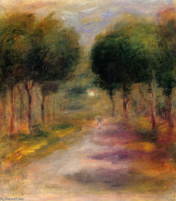 Landscape with Trees by Pierre-Auguste Renoir (1841-1919, France) | Famous Paintings Reproductions | WahooArt.com