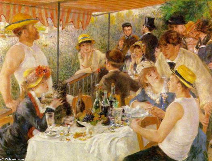 'Luncheon of the Boating Party', Oil by Pierre-Auguste Renoir (1841-1919, France)