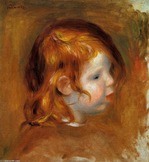 'Portrait of Jean', Oil by Pierre-Auguste Renoir (1841-1919, France)
