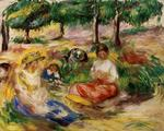 Pierre-Auguste Renoir - Three Young Girls Sitting in the Grass