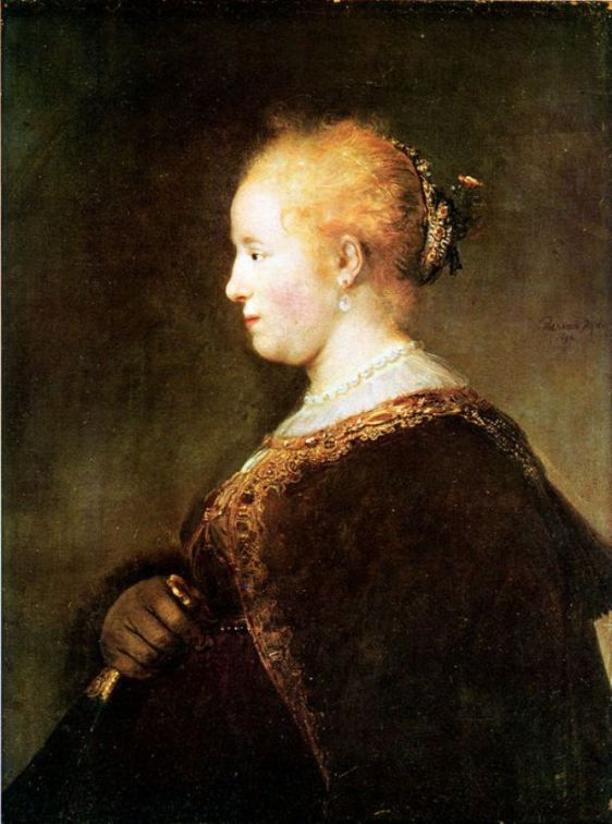 'Portrait of a Young Woman', Oil by Rembrandt Van Rijn (1606-1669, Netherlands)
