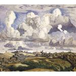 Charles Burchfield - Landscape With Hills And Clouds