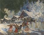 Constantin Alexeevich Korovin - Dancers in the snow
