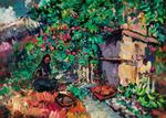 Constantin Alexeevich Korovin - Summer - Apple Harvest