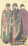 Constantin Alexeevich Korovin - Two groups of costume designs for Khovanshchina. Male and female boyars