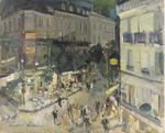 Constantin Alexeevich Korovin - View of a Parisian street corner
