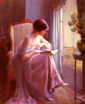 Delphin Enjolras - Young Woman Reading By A Window