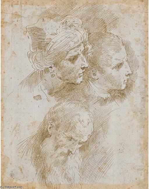 'The Three Ages of Man', Drawing by Donato Creti (1671-1749, Italy)