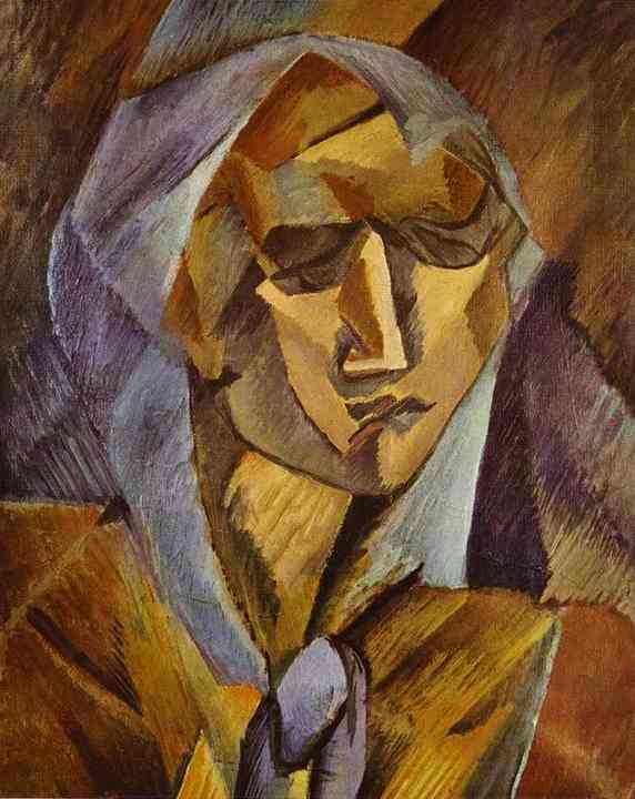 'Head Of A Woman' by Georges Braque (1882-1963, France)