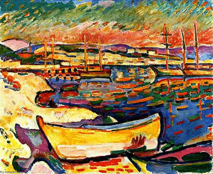 'Yellow Seacoast' by Georges Braque (1882-1963, France)