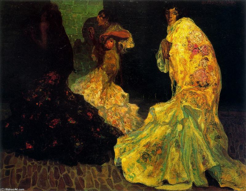 'Gypsies' by Hermen Anglada Camarasa (1871-1959, Spain)