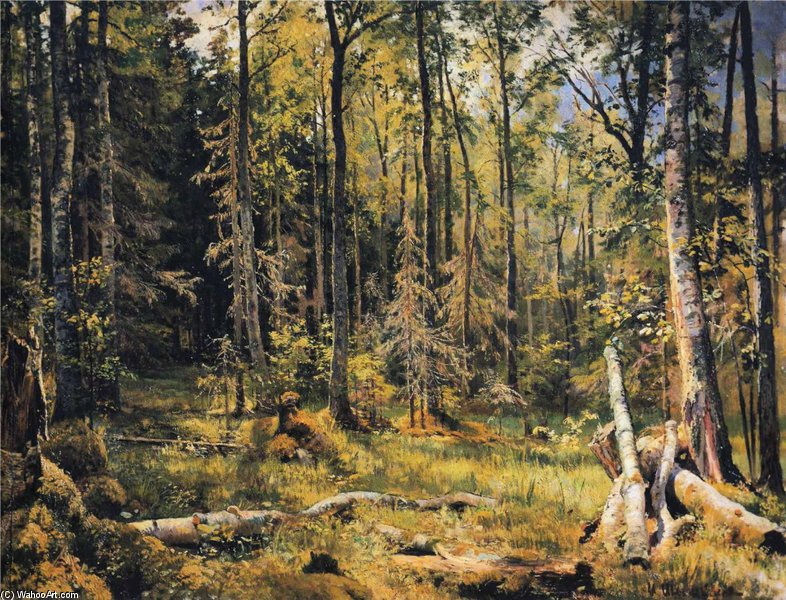 Mixed Forest by Ivan Shishkin (1832-1898, Russia) | WahooArt.com