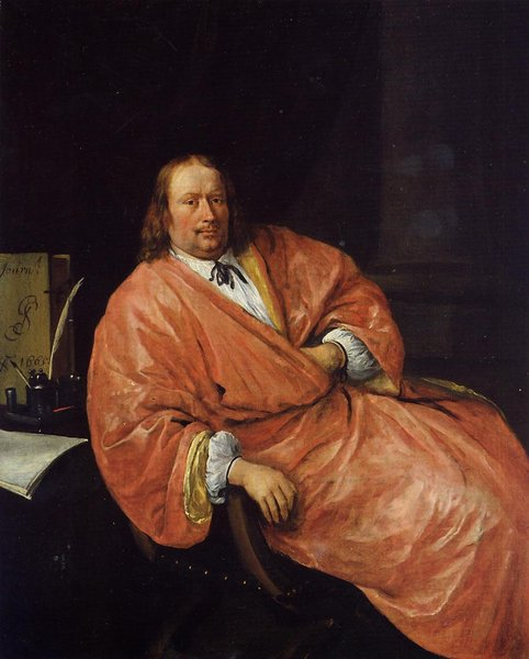 Portrait of Gerrit Gerritsz Schouten by Jan Steen (1626-1679, Netherlands) | Museum Quality Reproductions | WahooArt.com