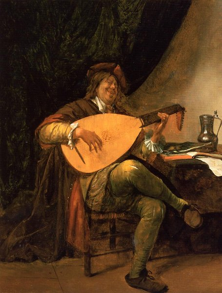 'Self Portrait as a Lutenist' by Jan Steen (1626-1679, Netherlands)