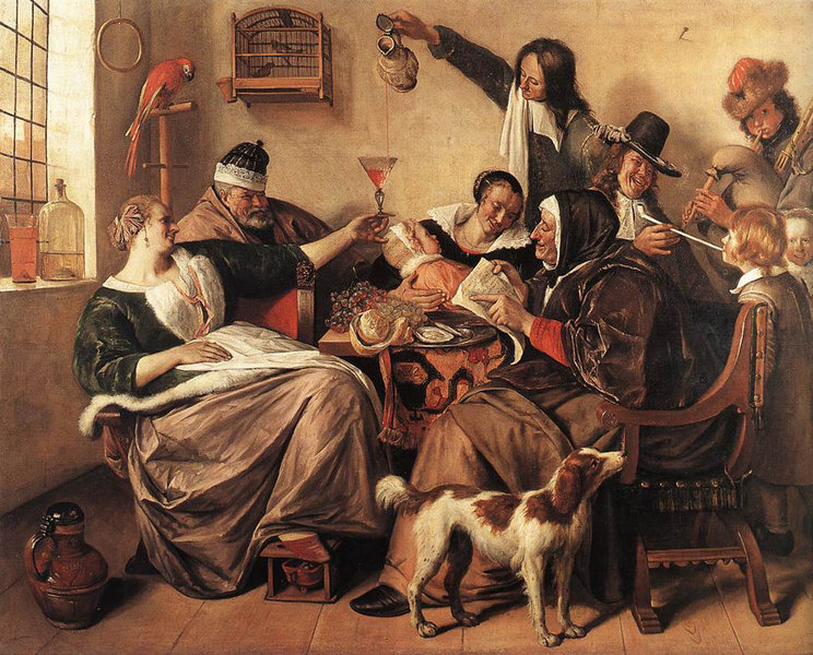 'The Artist's Family' by Jan Steen (1626-1679, Netherlands)