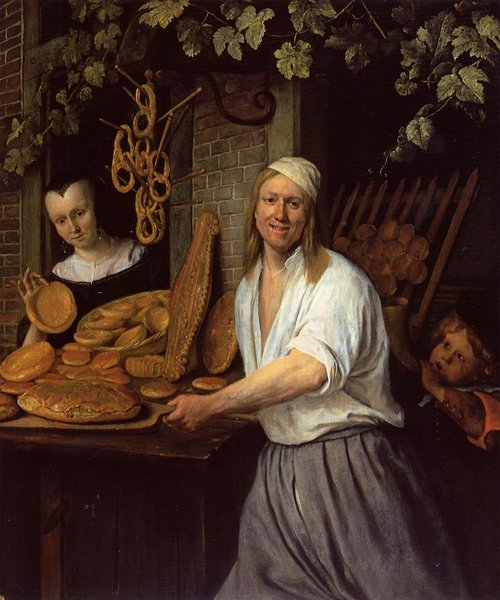'The Leiden Baner Arend Oosterwaert and His Wife Catharina Keyzerswaert' by Jan Steen (1626-1679, Netherlands)