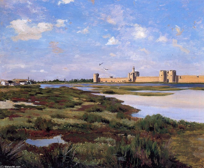 'Aigues-Mortes' by Jean Frederic Bazille