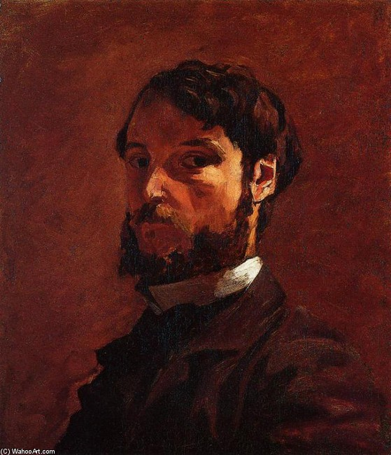 'Portrait of a Man' by Jean Frederic Bazille