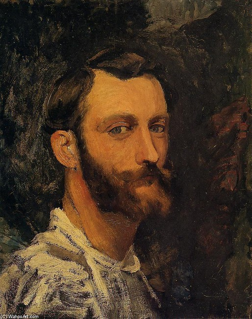 Self Portrait by Jean Frederic Bazille | Painting Copy | WahooArt.com