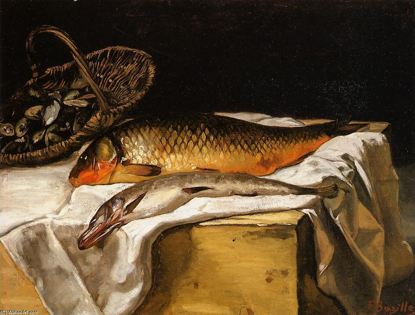 'Still Life with Fish' by Jean Frederic Bazille