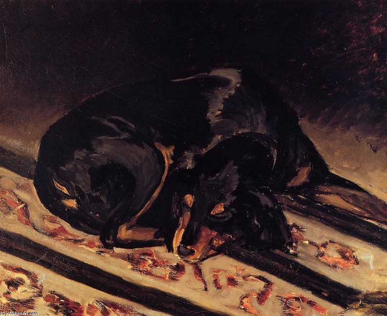 'The Dog Rita Asleep' by Jean Frederic Bazille