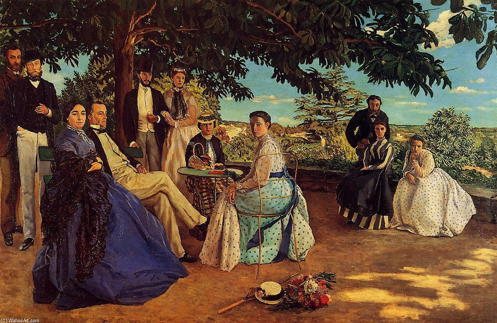 'The Family Gathering' by Jean Frederic Bazille