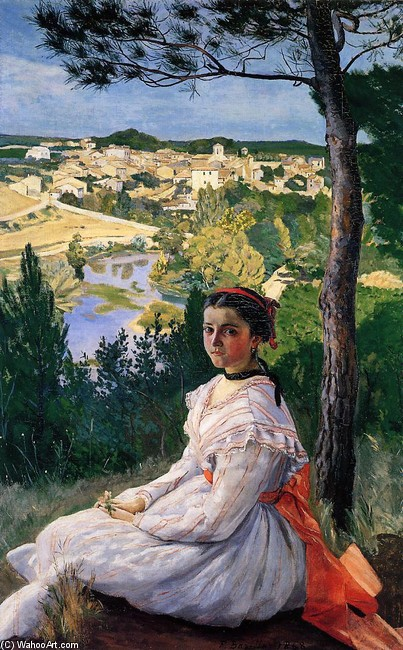 'View of the Village' by Jean Frederic Bazille