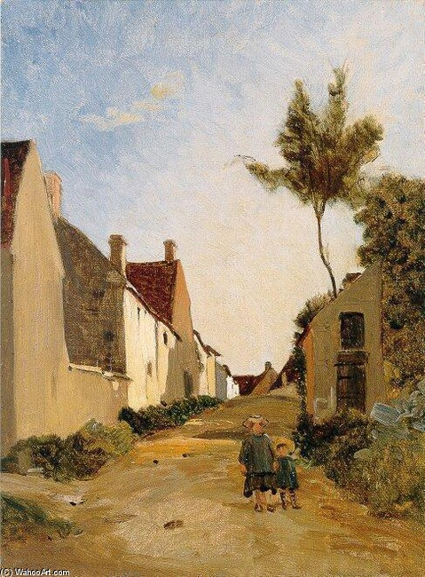 'Village Street (aka Chailly)' by Jean Frederic Bazille