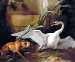 Jean-Baptiste Oudry - Swan Attacked by a Dog