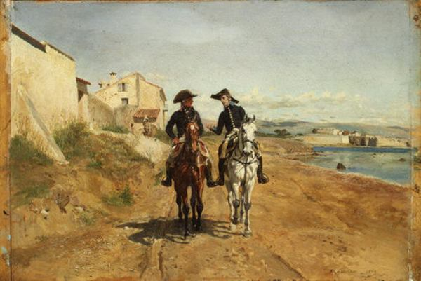 'A General and His Aide-de-camp' by Jean-Louis Ernest Meissonier