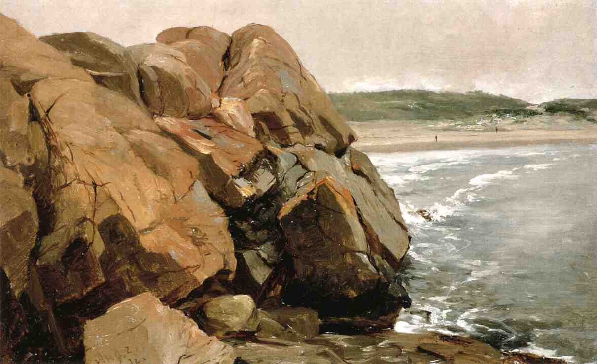 Bass Rocks by Jervis Mcentee (1828-1891, United States) | Oil Painting | WahooArt.com