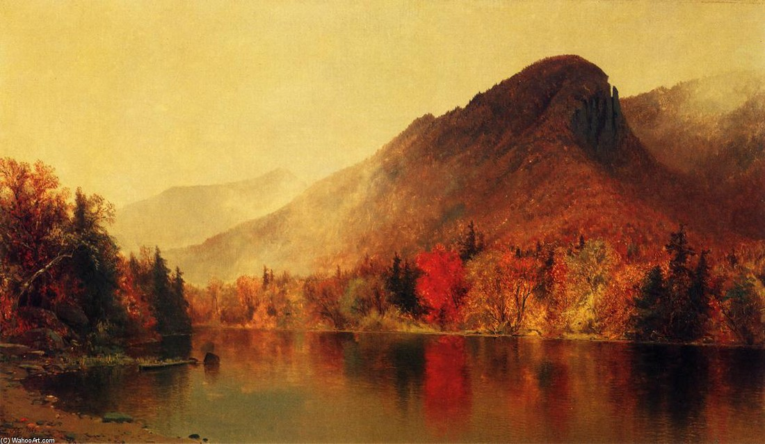 'Eagle Cliff, Franconia, New Hampshire' by Jervis Mcentee (1828-1891, United States)