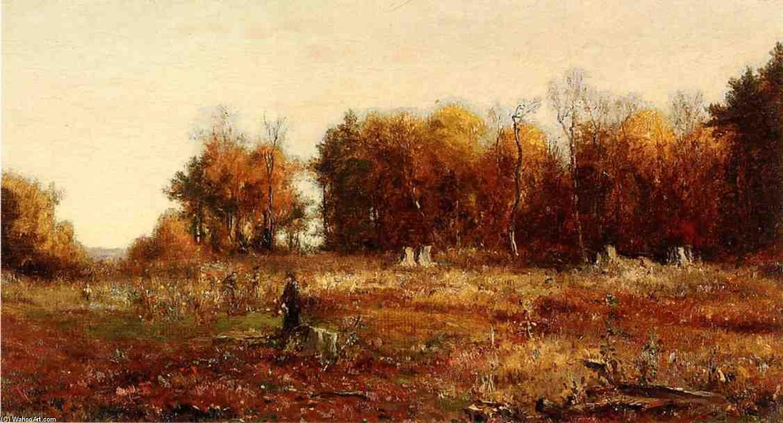'Gathering Autumn Leaves' by Jervis Mcentee (1828-1891, United States)